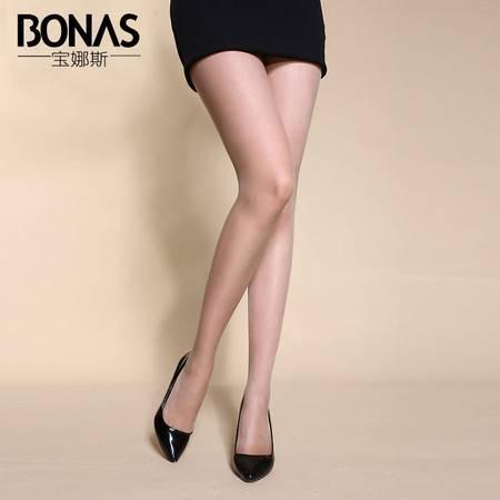 宝娜斯/BONAS  15D加裆透气绢感连裤袜丝袜女士袜子长筒袜子