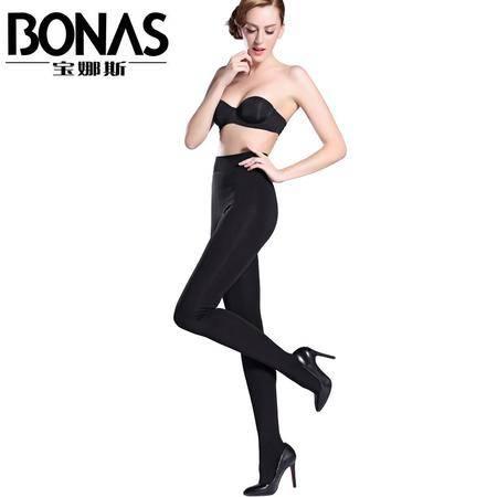 【包邮】宝娜斯/BONAS秋冬加绒打底裤保暖裤高腰保暖连裤袜显瘦外穿一体裤D8508-1