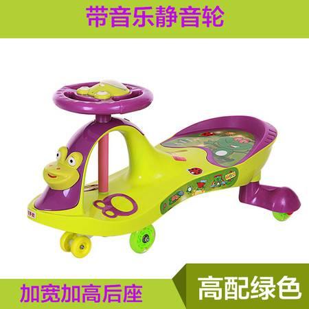 儿童扭扭车带音乐静音轮宝宝滑行车溜溜车1-6岁玩具车妞妞摇摆车