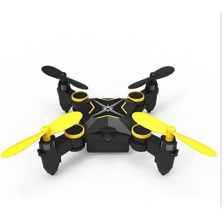 儿童玩具迷你折叠无人机四轴飞行器遥控飞机直升机四旋翼