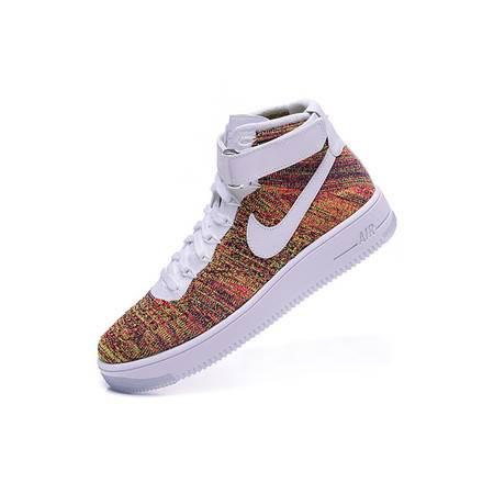 Nike耐克 男女空军一号高帮板鞋AF1飞线情侣运动休闲跑步篮球鞋