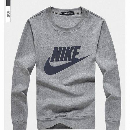 Nike耐克 男士圆领青少年男装长袖卫衣印花体恤圆领纯棉运动休闲卫衣