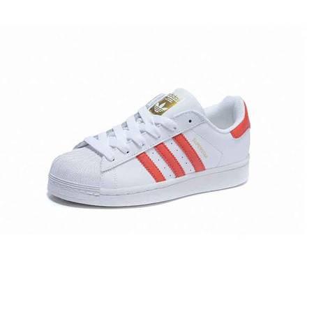 Adidas阿迪达斯头层皮 Originals 三叶草板鞋贝壳头女鞋 休闲男鞋学生情侣跑步鞋