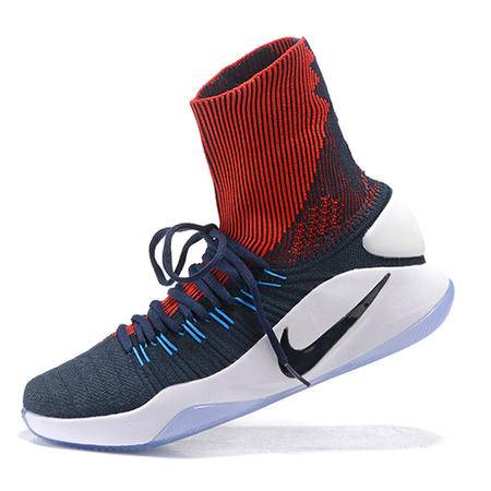 耐克Nike 男鞋高帮篮球鞋 奥利奥战靴 男士运动篮球鞋奥运编织版