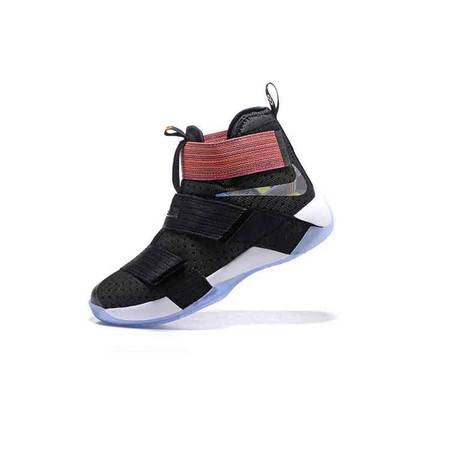 Nike耐克男士篮球鞋 詹姆斯士兵10代篮球鞋高帮减震运动健身鞋大码耐磨战靴1698
