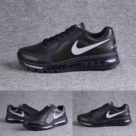 耐克男士跑鞋 皮面运动鞋男鞋气垫跑鞋减震休闲旅游鞋男子防滑跑步鞋2014-621077