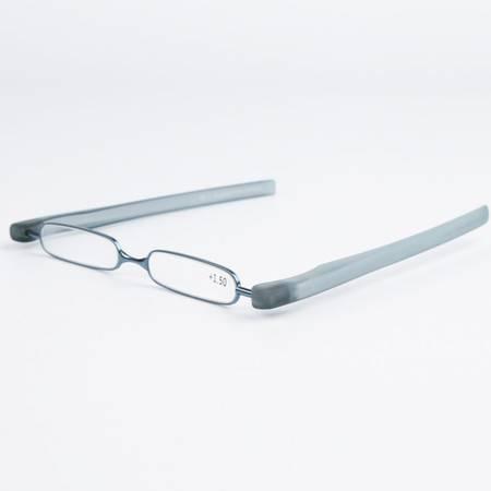 折叠老花镜 便携时尚树脂防疲劳男女360度旋转大小框超轻老花眼镜L00007