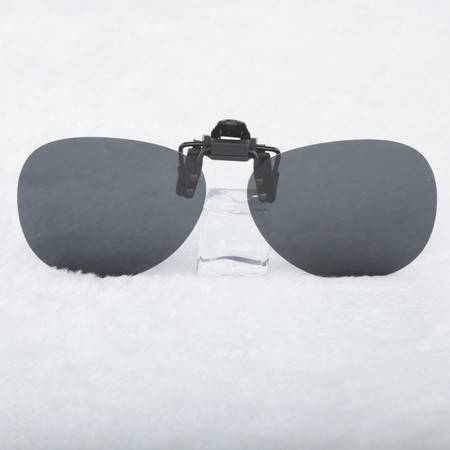 超轻蛤蟆镜近视用偏光太阳镜夹片 男女墨镜夹片 可上翻式隐形夹片 CJP00006
