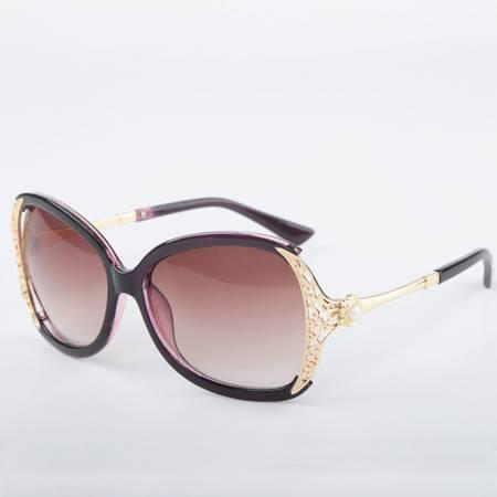 复古女款太阳镜 全框 大框 金属装饰女眼镜 板材 R00263