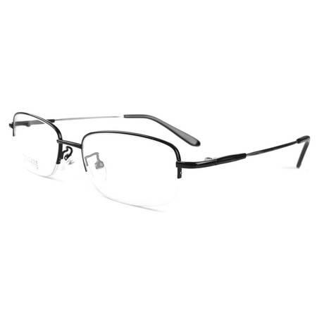 TILU 商务近视镜 记忆合金 金属半框近视眼镜 J00172