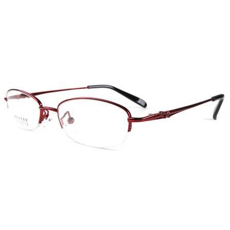 TILU 记忆合金金属近视镜 女款 半框近视眼镜 J00175