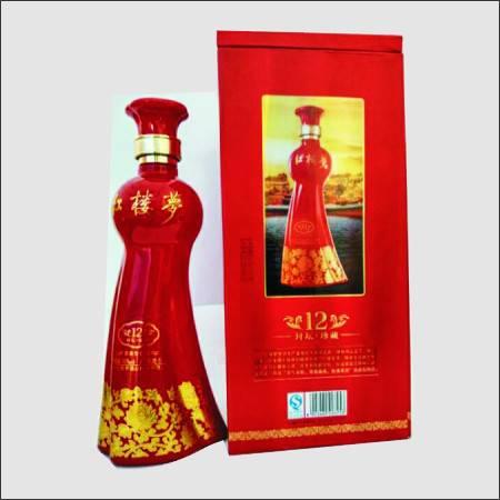 红楼梦酒,封坛.珍藏12年,高贵盒装 -红色