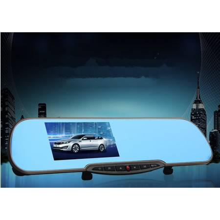 车爵士 4.3寸 蓝光后视镜 行车记录仪 1080P高清 广角双镜头 停车监控 车距侦测