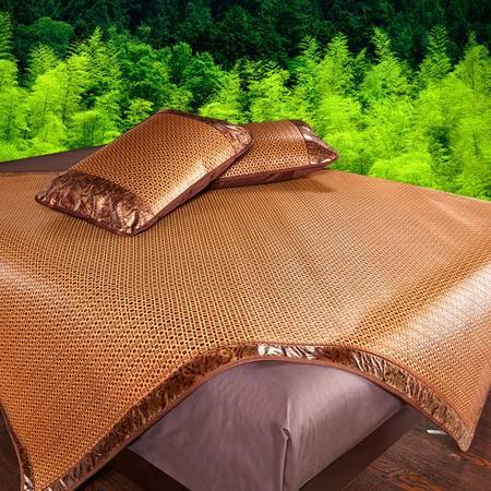 九洲鹿 凉席三件套可折叠夏季席子1.5/1.8米床