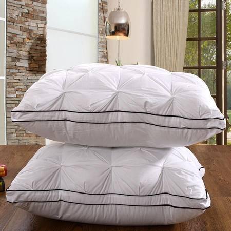 九洲鹿 韩式简约五星酒店枕头枕芯羽丝绒软枕芯护颈枕单人面包枕48x74