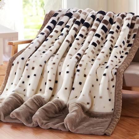 九洲鹿 双层加厚拉舍尔毛毯子  200*230约6.6斤