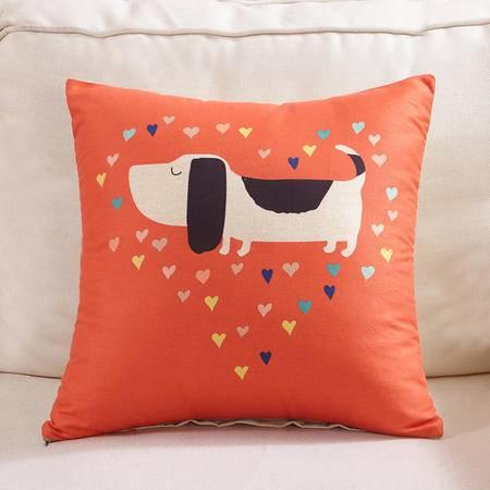 九洲鹿 磨毛风格卡通印花款抱枕靠垫 多功能午睡 单个