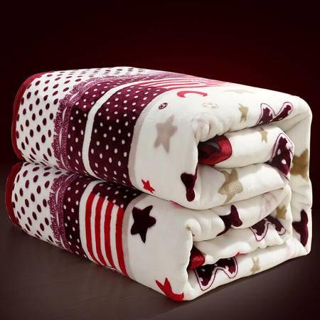 九洲鹿 法兰绒珊瑚绒毛毯 100*140cm空调毯子单人盖毯加厚床单