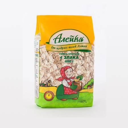 【四平馆】俄罗斯进口艾利客小麦片 400g*2袋包邮