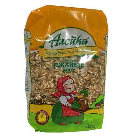 俄罗斯进口艾利客黑麦片 400g/袋 2袋包邮