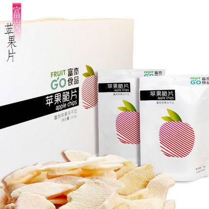 富岗苹果干脆片16g*10袋水果干冻干技术无添加休闲零食促销包邮