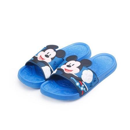 迪士尼(Disney)可爱米妮居家卡通儿童成人PVC拖鞋 MP15544 天蓝色
