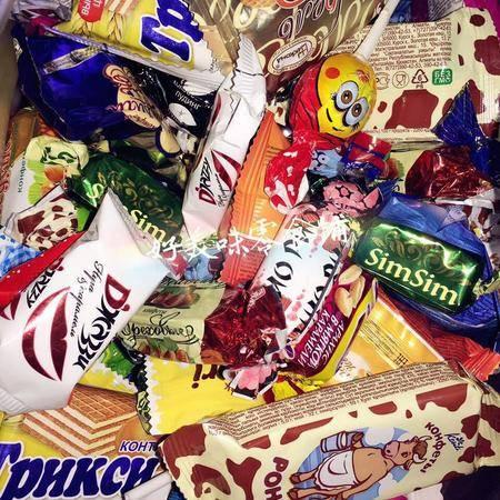 米格士 包邮俄罗斯超值混合糖果试吃装 500g四十多种糖果混合