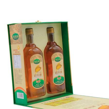沭阳特产雅来康特级稻米油1升2瓶礼盒装