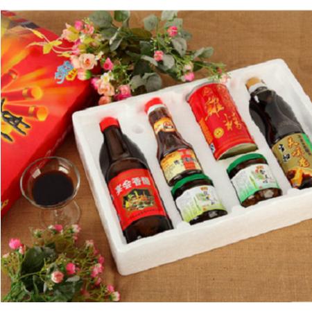 恒顺 恒顺普通合家欢礼盒 镇江香醋+麻油+酱菜*2瓶+生抽+鸡精