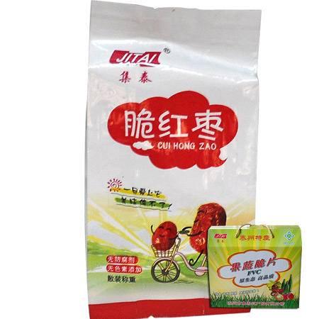 集泰红枣脆片500g