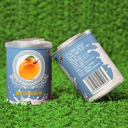 爱斯曼酸奶黄桃罐头400克*6罐21省包邮