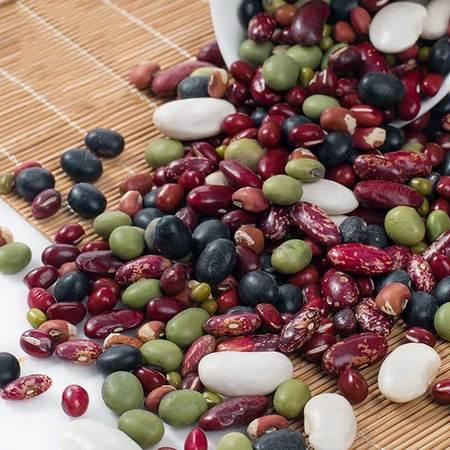 农人铺子杂粮组合,红豆+绿豆+黑豆+芸豆2000g包邮