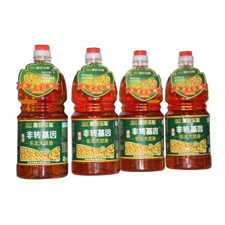 双鸭山 集贤县 非转基因 笨榨大豆油  1.8L×4桶 礼盒装 全国包邮