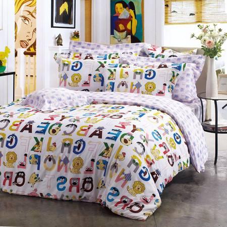卡撒天娇卡通床品男女潮儿童四件套全棉床上四件套纯棉美式床笠