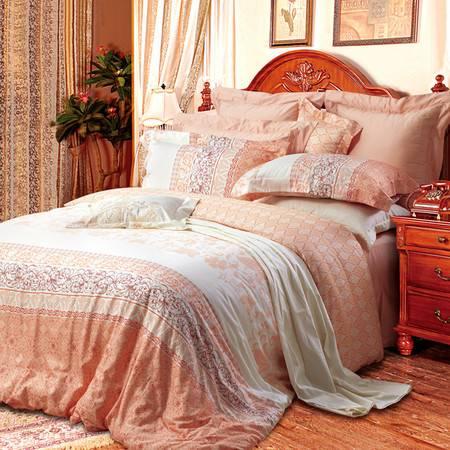 卡撒天娇意大利风情全棉贡缎四件套床单套件纯棉四件被套床套