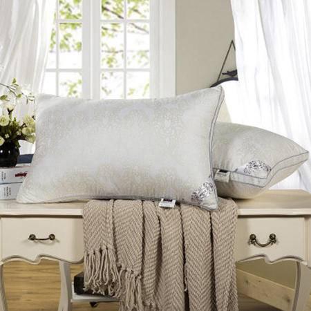 欧派家纺(OPAR)48*74cm 长形枕头 单人枕头 白色丝绒舒适枕芯