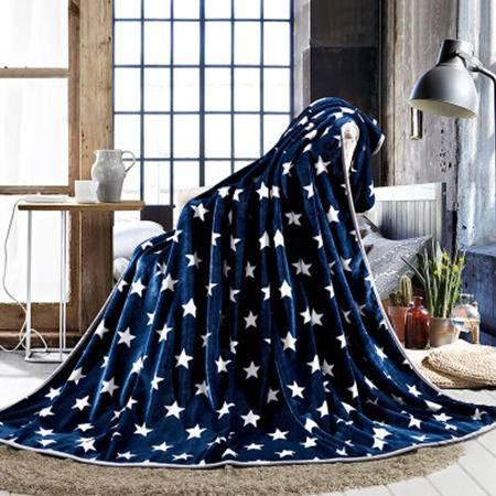 欧派家纺(OPAR)180*200cm法莱绒印花毛毯 细腻柔软四季多功能毛毯