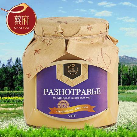 chaifoo 蔡府 俄罗斯原装进口黑蜂蜜 天然森林多花种百花蜜500g