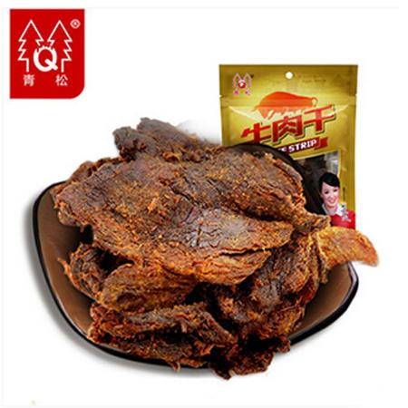青松牛肉干 70g 原味 正宗黄牛肉食手撕牛肉干零食小吃肉XO酱