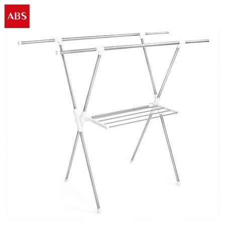 ABS爱彼此 X型伸缩不锈钢置地晾衣架