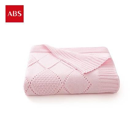 ABS爱彼此 Josie全棉针织菱格纹儿童盖毯