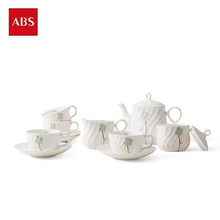 ABS爱彼此 Ashley生如夏花系列骨瓷茶具11件组