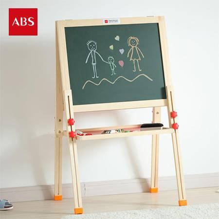 ABS爱彼此 Regan天然松木系列双面升降儿童画板