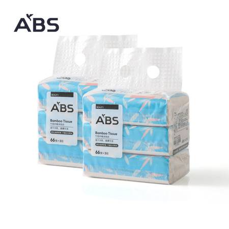 ABS爱彼此 竹浆抑菌型软抽面巾纸(6包)