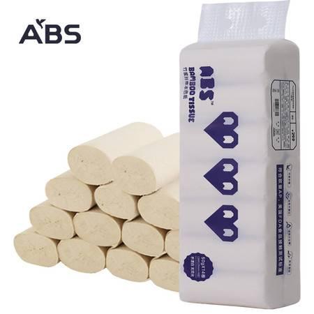 ABS爱彼此  家用卫生纸卷纸 4卷每提有芯纸巾厕纸