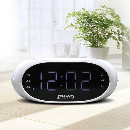 【雷登】RT-4500 数字显示收音闹钟 液晶夜视灯时钟定时简约居家座钟
