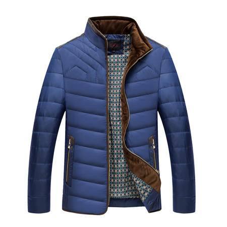 雪骄子新款男士商务休闲加厚保暖简约时尚立领羽绒服A017反季清仓