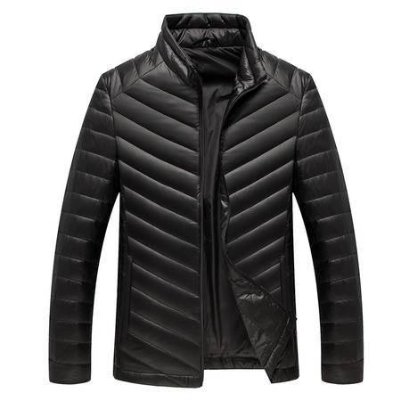 雪骄子新款男士韩版冬轻薄时尚休闲保暖商务百搭90绒羽绒服1501