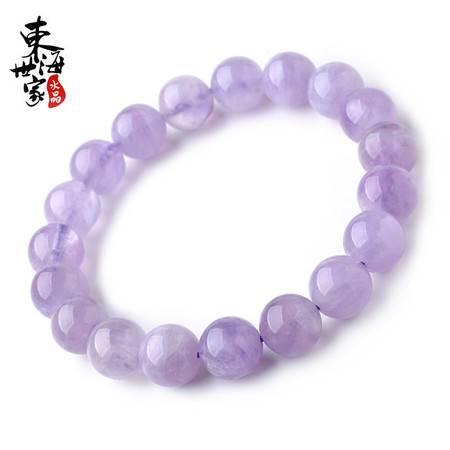 东海世家薰衣草紫晶手串唯美紫水晶单圈珠径约8mm手链男女 水晶时尚饰品