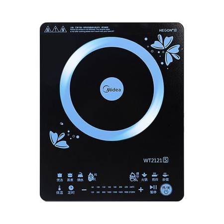 美的/MIDEA C21-WT2121 电磁炉 薄外观设计 火力时间双显屏